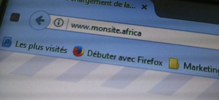 Un site avec pour extension .africa