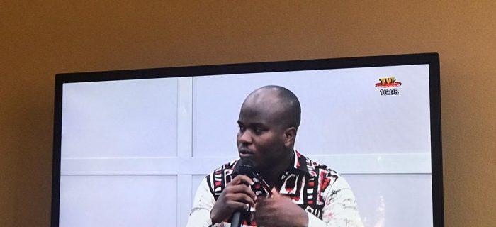 Koffi SANI sur la plateau de la Télévision Togolaise ce samedi 08/08/2020